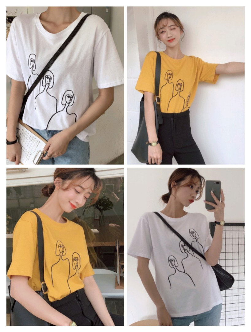 93c75f5db9 PO] Korean Figures Tshirt, Women's Fashion, Clothes, Tops on Carousell