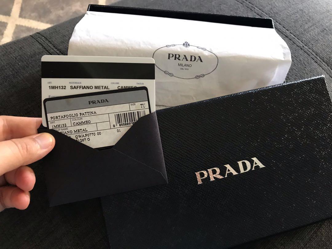 68e9739f79be Prada Wallet Pink Safiano Metal, Women's Fashion, Bags & Wallets ...