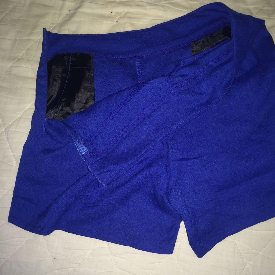Royal blue Skort (Skirt front shorts)