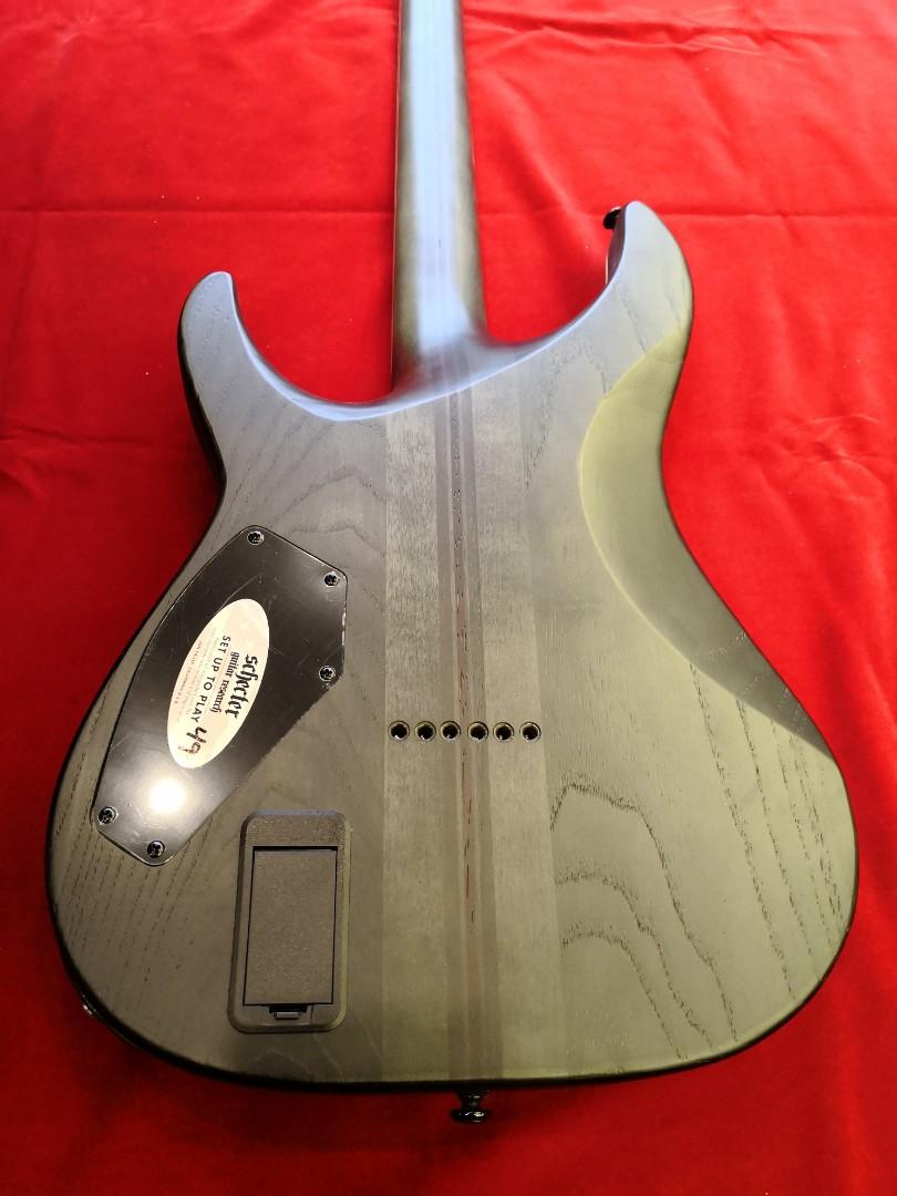 Schecter Guitar C-1 SLS Elite Evil Twin Satin Black