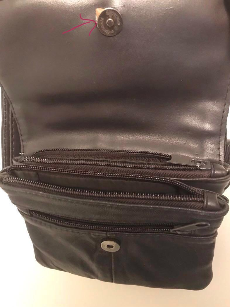 Small crossbody bag dark brown genuine leather made in Italy
