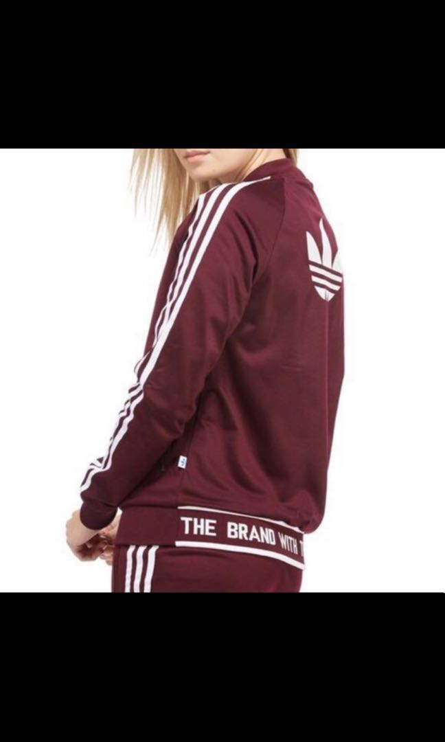 3c89173dc698 SpringCleanAndCarouSell50 Maroon Adidas Originals Track Jacket ...