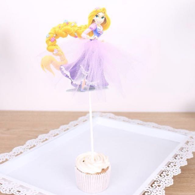 Tangled Rapunzel Cake Cupcake Topper Party Decoration Birthday