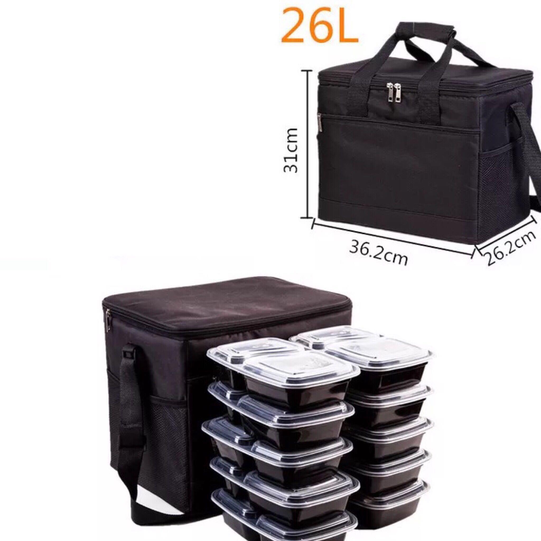 Thermal cooler warmer travel delivery food bag