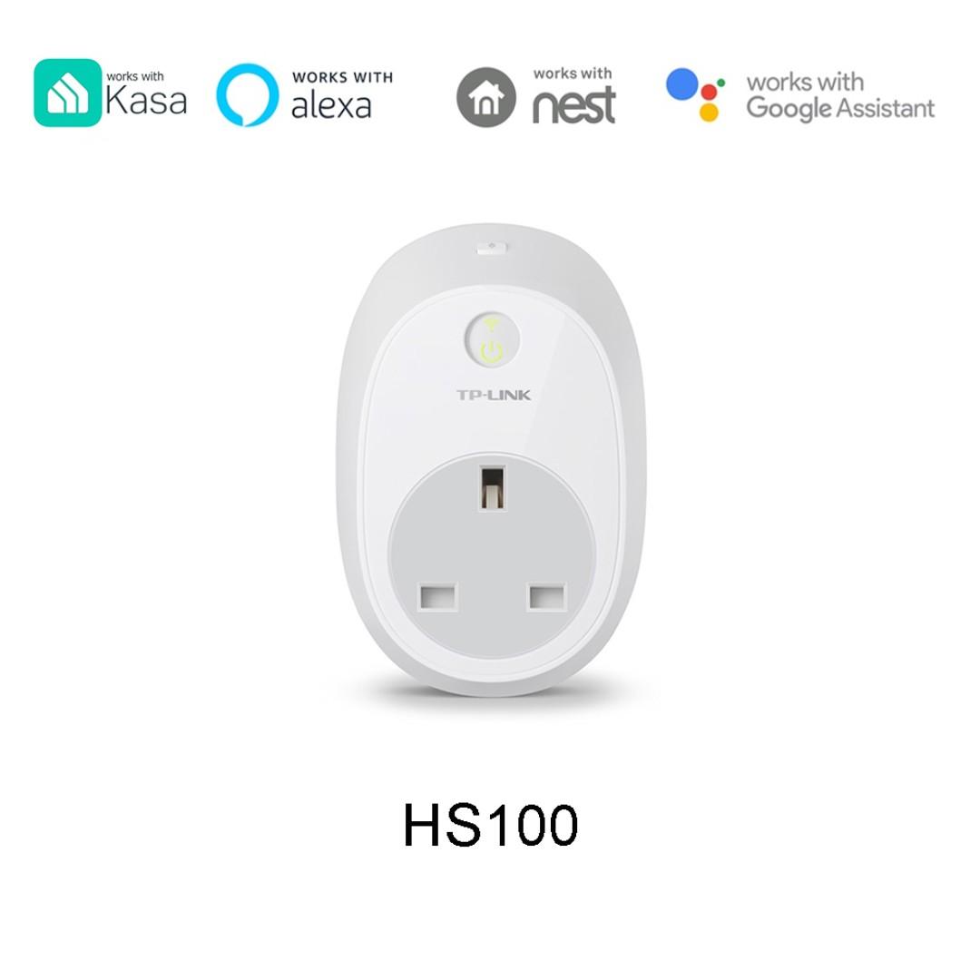 TP-Link HS100 WiFi Smart Plug, Smart Home, Smart WIFI, Remote Control, App  Control, work with Google Home, Alexa