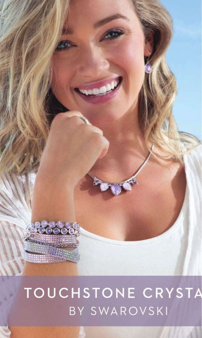 Two beautiful ice bracelets by Swarovski for Touchstone Crystal lilac and violet BNIB