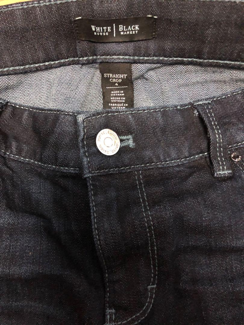 White House black market straight crop jeans size 4