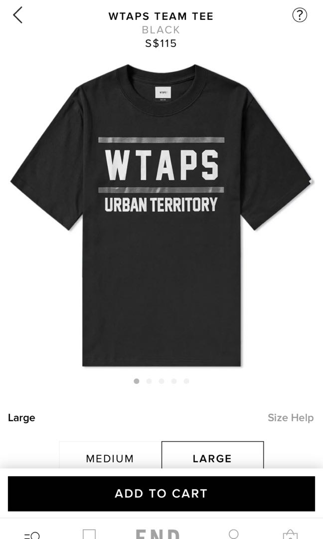 2d98895f WTS WTAPS TEAM TEE, Men's Fashion, Clothes, Tops on Carousell