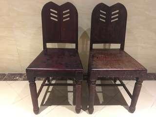 日據 巴洛克 烏心石 公婆椅 靠背椅 餐椅 古董