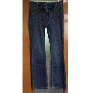 4️⃣Esprit mid rise straight leg light blue jeans