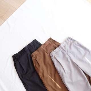 Celana bahan katun semi formal