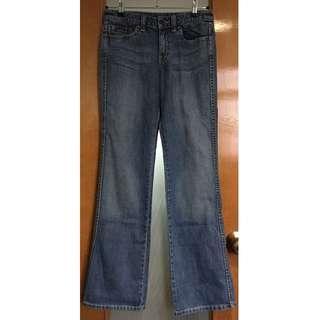 5️⃣Esprit mid rise flare light blue jeans