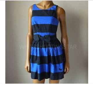 Abercrombie and fitch anf blue striped summer semi-formal dress