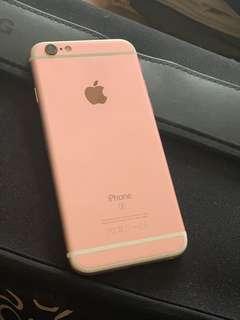 Iphone6s 128gb玫瑰金連盒