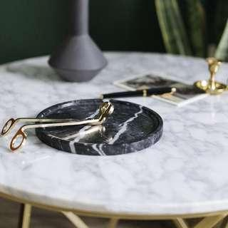 🚚 Black Marble Trinket Holder