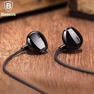 Earphone Headset Stereo Baseus H06 - Hitam - Original
