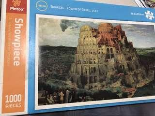 🚚 Pintoo 1000pcs Jigsaw Puzzle - Tower of Babel,1563