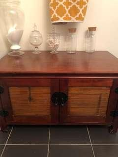 Pier 1 Cherry Wood Cabinet for Restoration