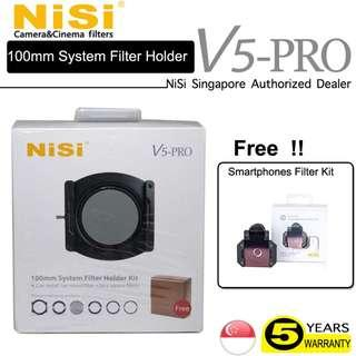 🚚 NiSi V5 PRO 100mm Aluminium Square Filter Holder Kit - FREE P1 Smartphone Filter kit