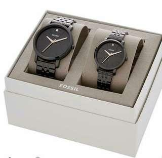 Fossil Couple Watch His And Her Lux Luther Gift Set