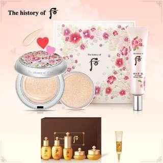 The History of Whoo Gongjinhyang Seol Radiant White Moisture Cushion Foundation Set 后 拱辰享雪氣墊粉底套裝 (連拱辰享Special Gift Set)