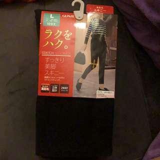 日本 黑色 leggings 內毛
