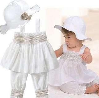 New Baby White Dress 6-12months