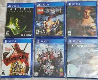 PS4 Playstation 4 Game Collection