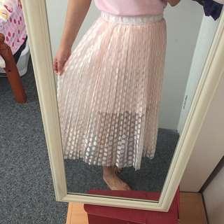 Korean long mesh skirt