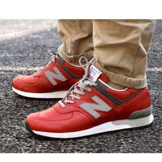526000171d63a New Balance 576 RED LEATHER US 10.5