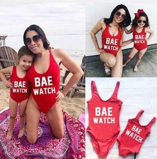 Mother and daugther matchy swimsuit