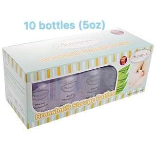 Autumnz Breastmilk Storage Bottles 5oz (10 bottles)