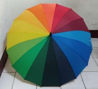 彩虹直立傘