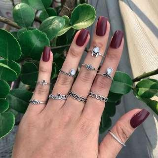 Cincin set bohemian import korea