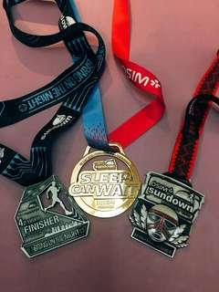 🚚 Medals from Sundown marathon
