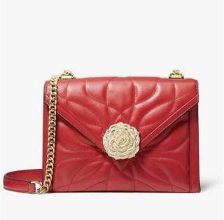 💯 Auth Michael Kors Whitney Large petal floral crossbody sling shoulder bag