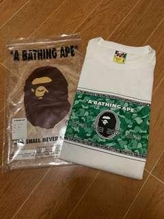 A Bathing Ape Bape Card Tee M size 100%new
