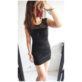 氣質黑色素色純色性感蕾絲縷空抓皺無袖洋裝無袖連身裙貼臀洋裝圓領洋裝緊身洋裝合身洋裝繃帶洋裝小禮服宴會晚宴