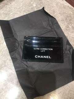 Chanel card holder white print