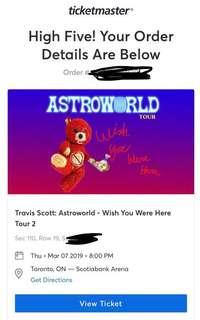 TRAVIS SCOTT ASTROWORLD TORONTO BEST SEATS IN THE HOUSE
