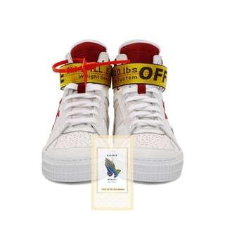 Off-White Top Sneakers White & Red Industrial High