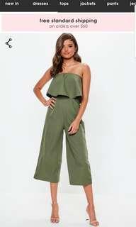 Missguided Double Layer Bandeau Culotte Jumpsuit/Playsuit BNWOT
