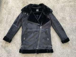 Biker sherpa jacket
