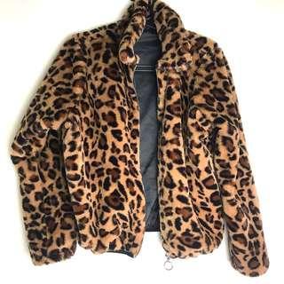 🚚 豹紋毛絨絨外套