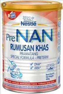 Susu baby pramatang Pre NAN