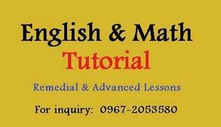 English and Math Tutorial