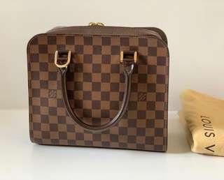 Authentic Louis Vuitton Damier Ebene Triana Top Handle Bag