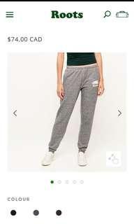 Roots Sweatpants Size xs Salt & Pepper