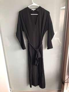 Oak & Fort black dress with tie