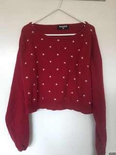 Dangerfield Cropped woollen jumper